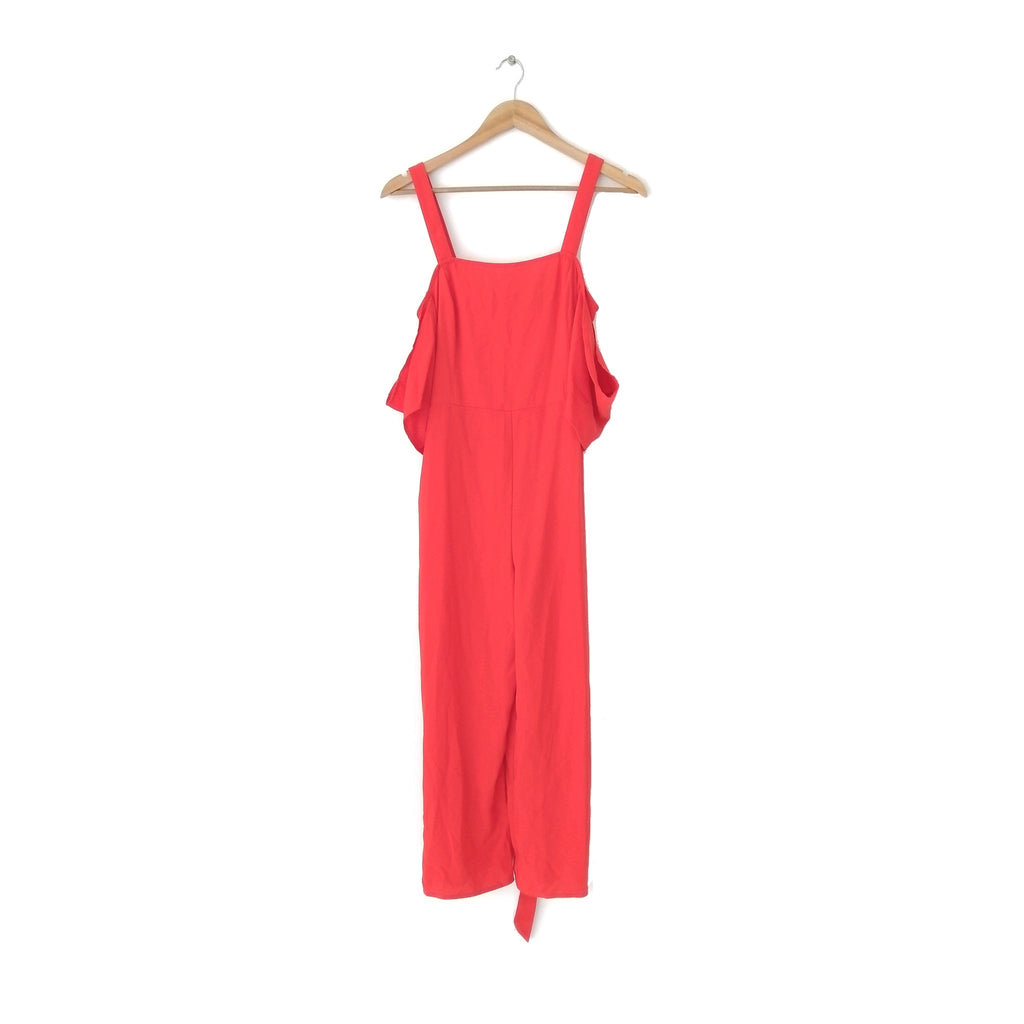 Forever 21 Coral-Red Jumpsuit