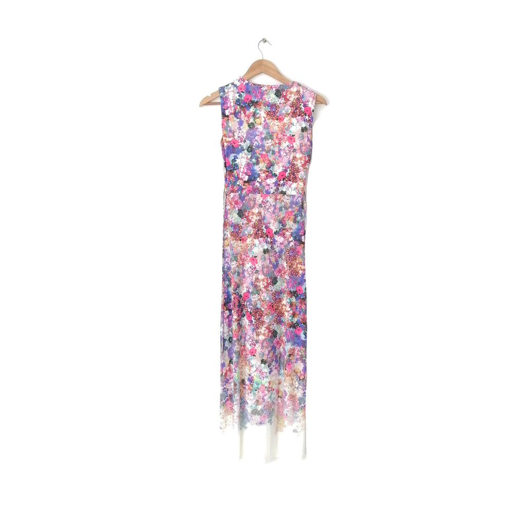 Marks & Spencer White Floral Printed Maxi Dress