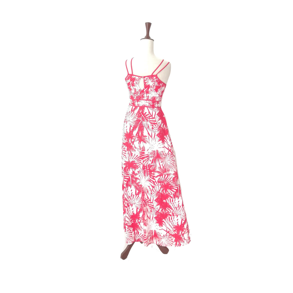 Red Herring for Debenhams Red & White Printed Maxi Dress