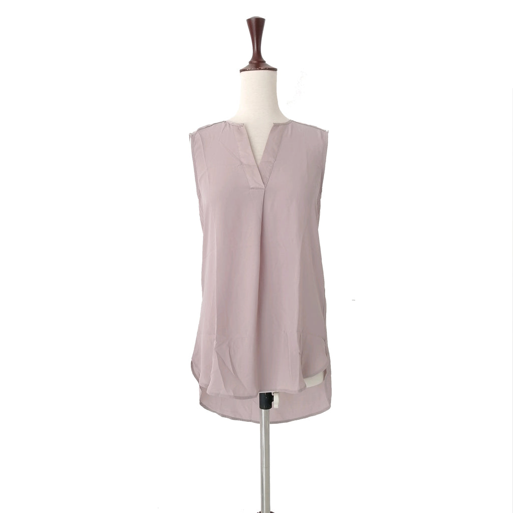 H&M Taupe Sleeveless Top