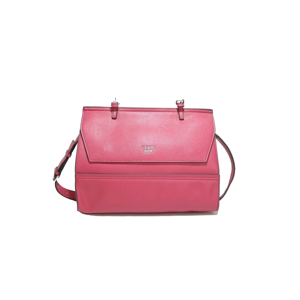 Guess Red Leatherette Satchel