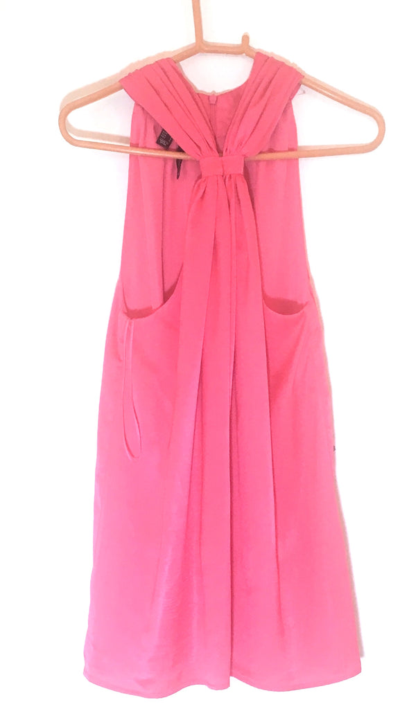 Mango Pink Knot Halter Dress | Like New |