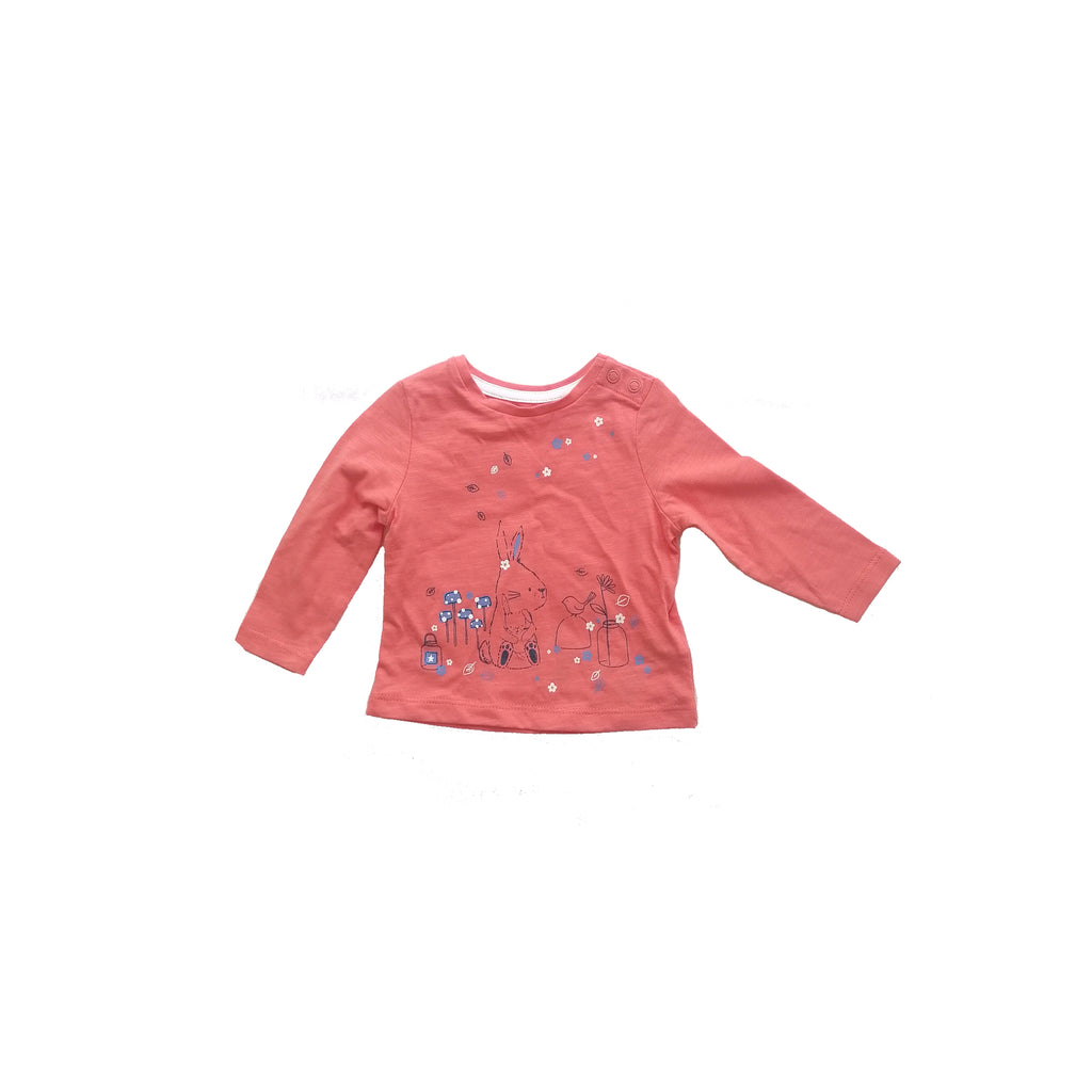 Mothercare Orange T Bunny T Shirt (1 - 3 months)