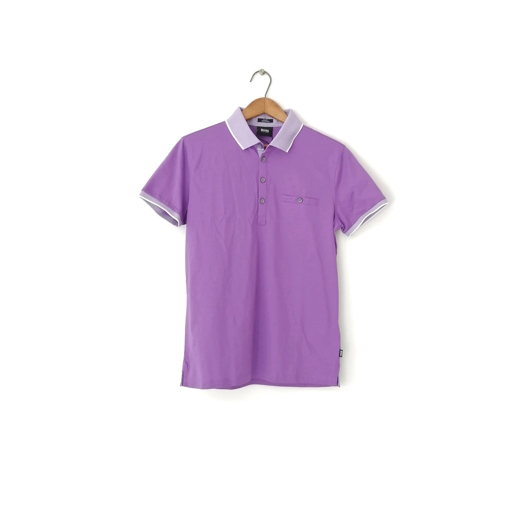 Hugo Boss Purple Men's Polo Shirt
