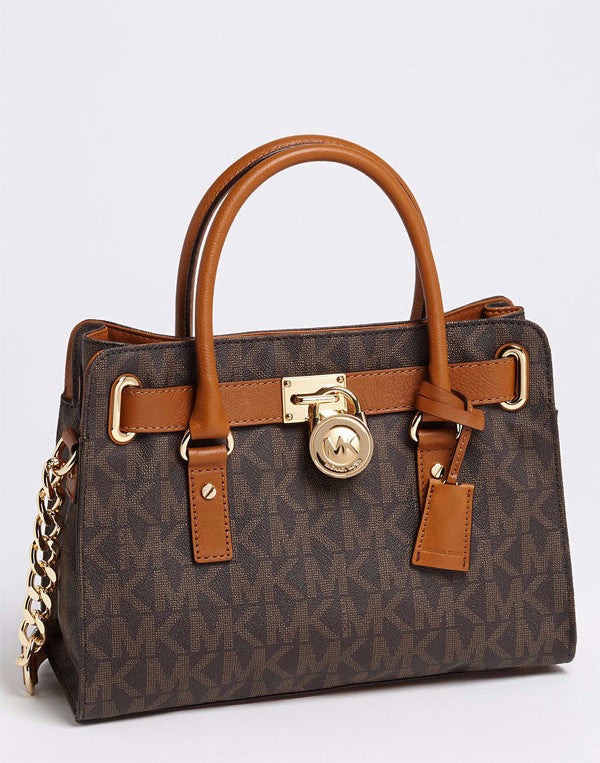 Michael Kors Brown Hamilton Satchel Tote - Secret Stash