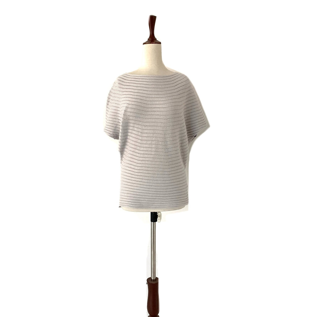 Uniqlo Light Grey Ribbed Boat-Neck Sweater | Brand New |