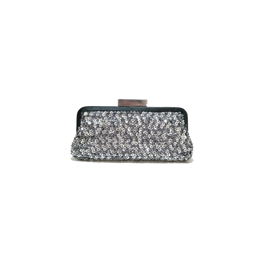 DUNE Grey Sequins Clutch