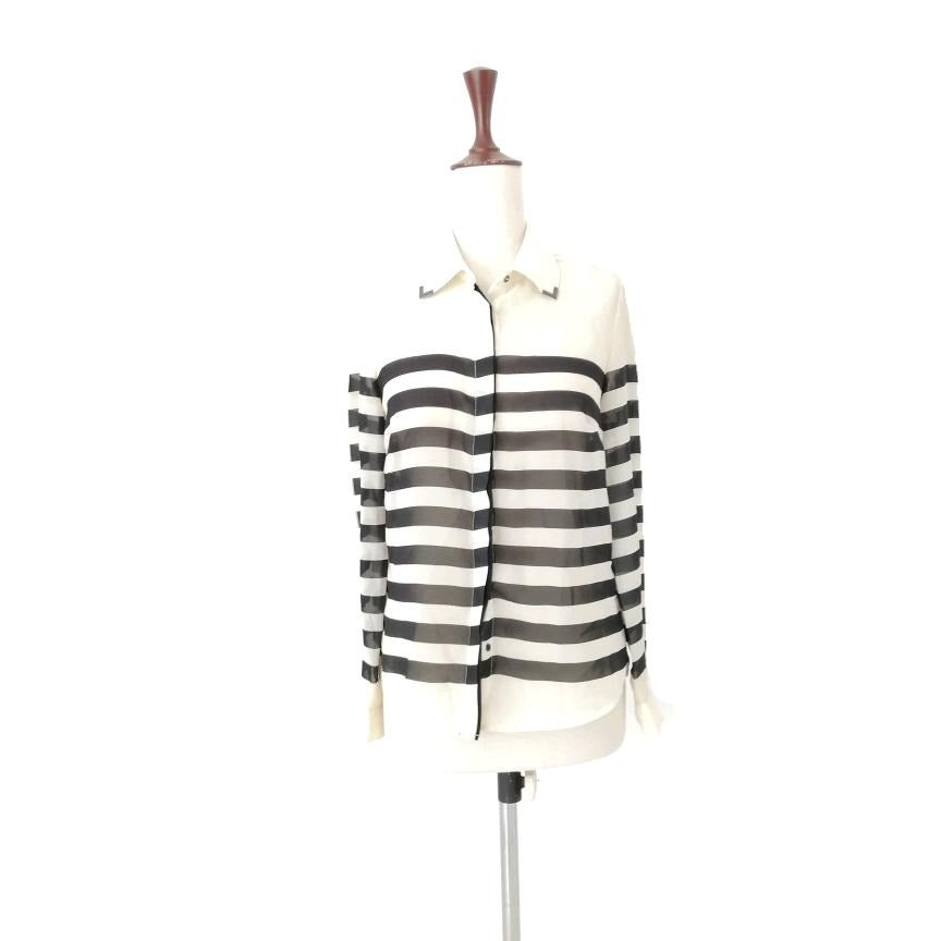 MAX Black & White Striped Blouse