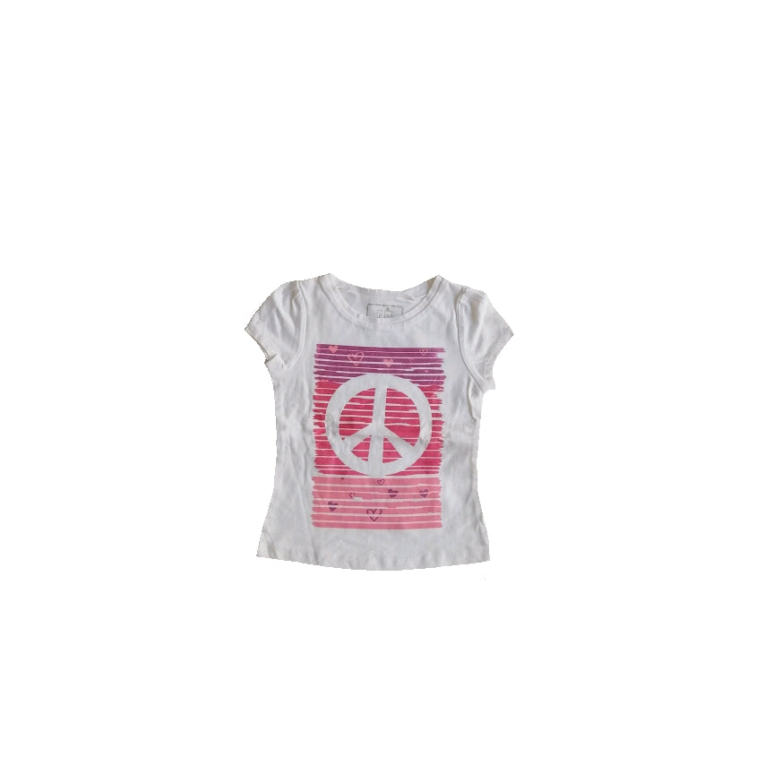 So Jenni Peace White T-Shirt