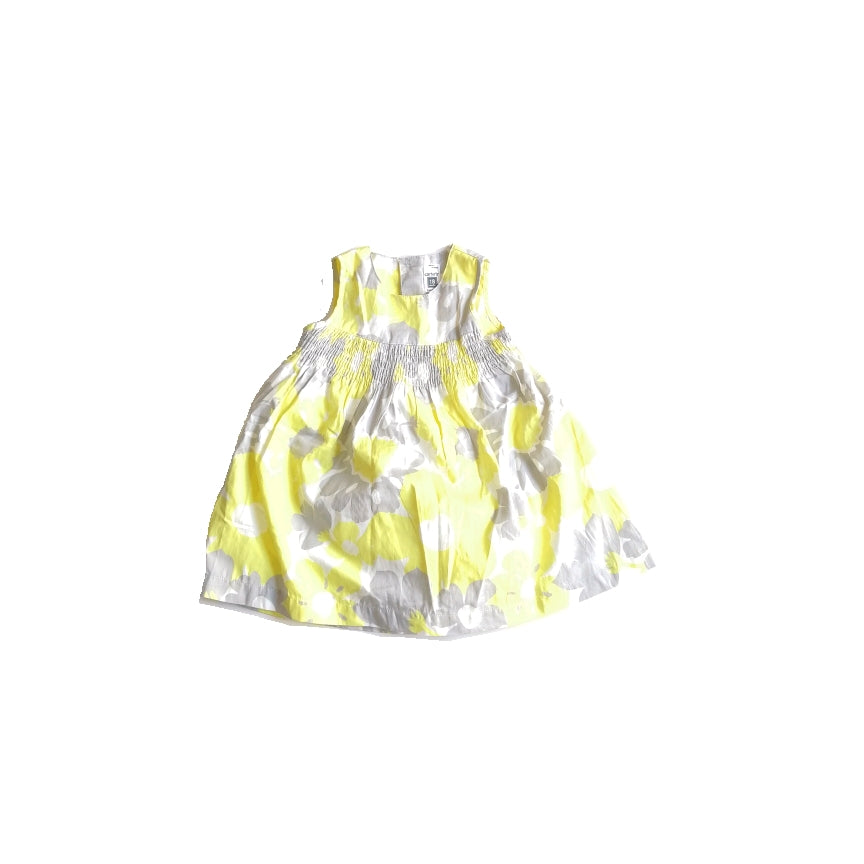 Carter's Grey & Yellow Floral Dress