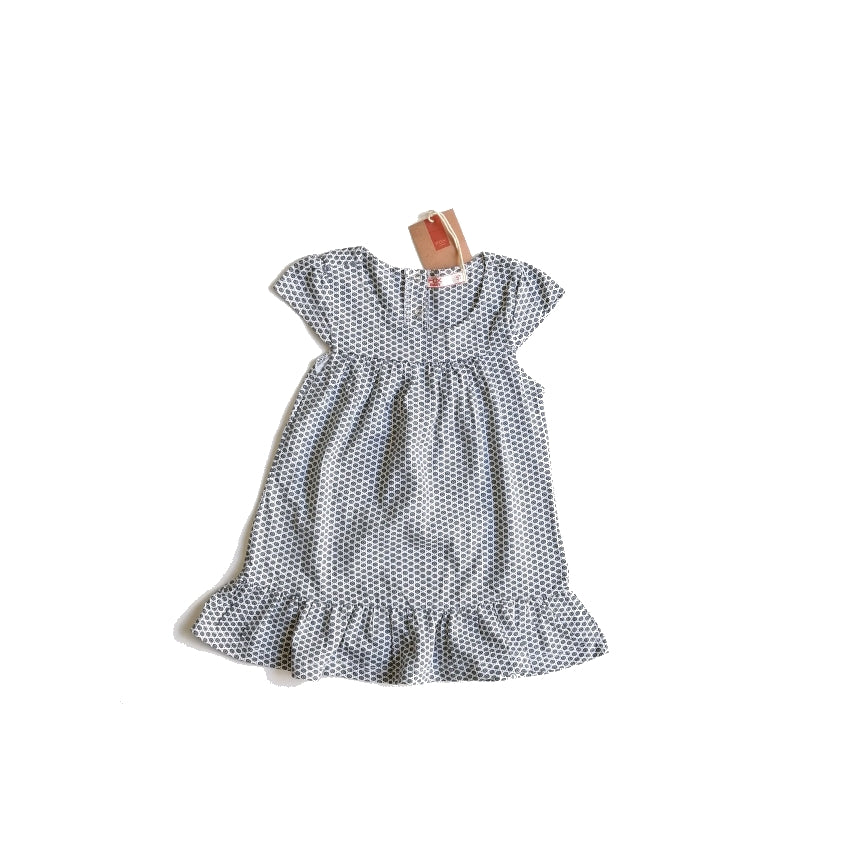 Fox Baby Grey & White Floral Dress