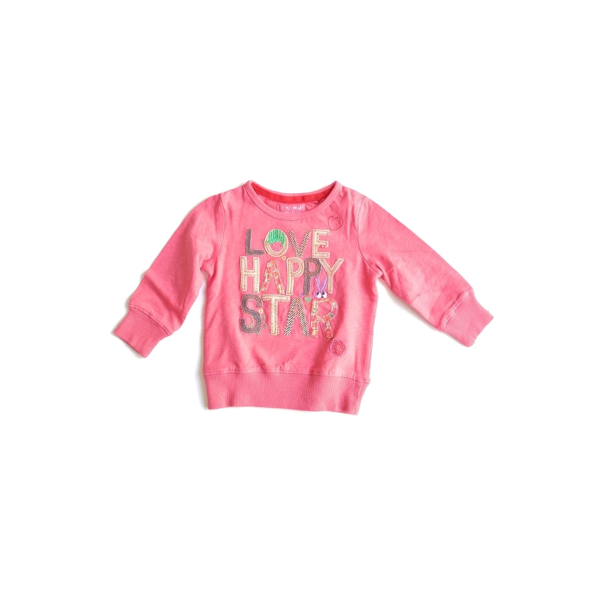 NEXT Pink Graphic Long Sleeved Shirt