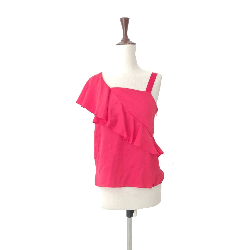 Armani Exchange Red One Shoulder Top