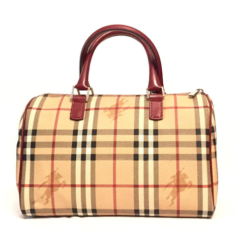f60b88a661ab Sold Out Burberry Classic  Haymarket  Check Bowling Bag