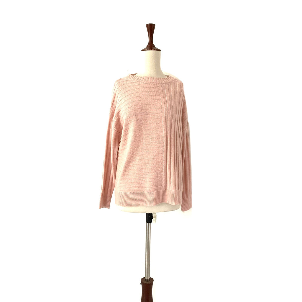 M&S Collection Pink Ribbed Sweater | Brand New |
