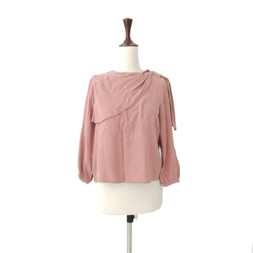 ZARA Blush Pink Pearls Top | Gently Used |