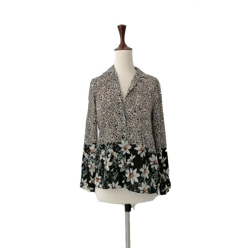 ZARA Floral Black Top | Gently Used |
