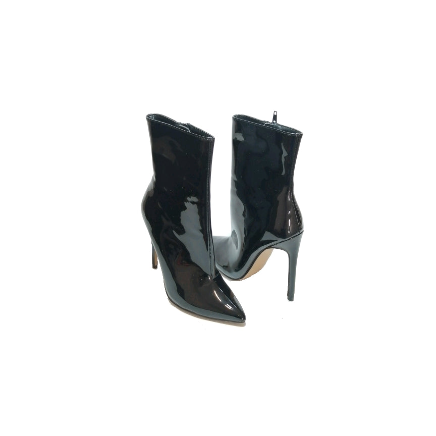 Steve Madden Black Patent 'Wagner' Ankle Boots | Brand New |
