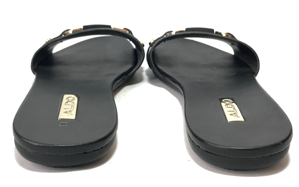 ALDO Black Buckle Slides  | Pre Loved |