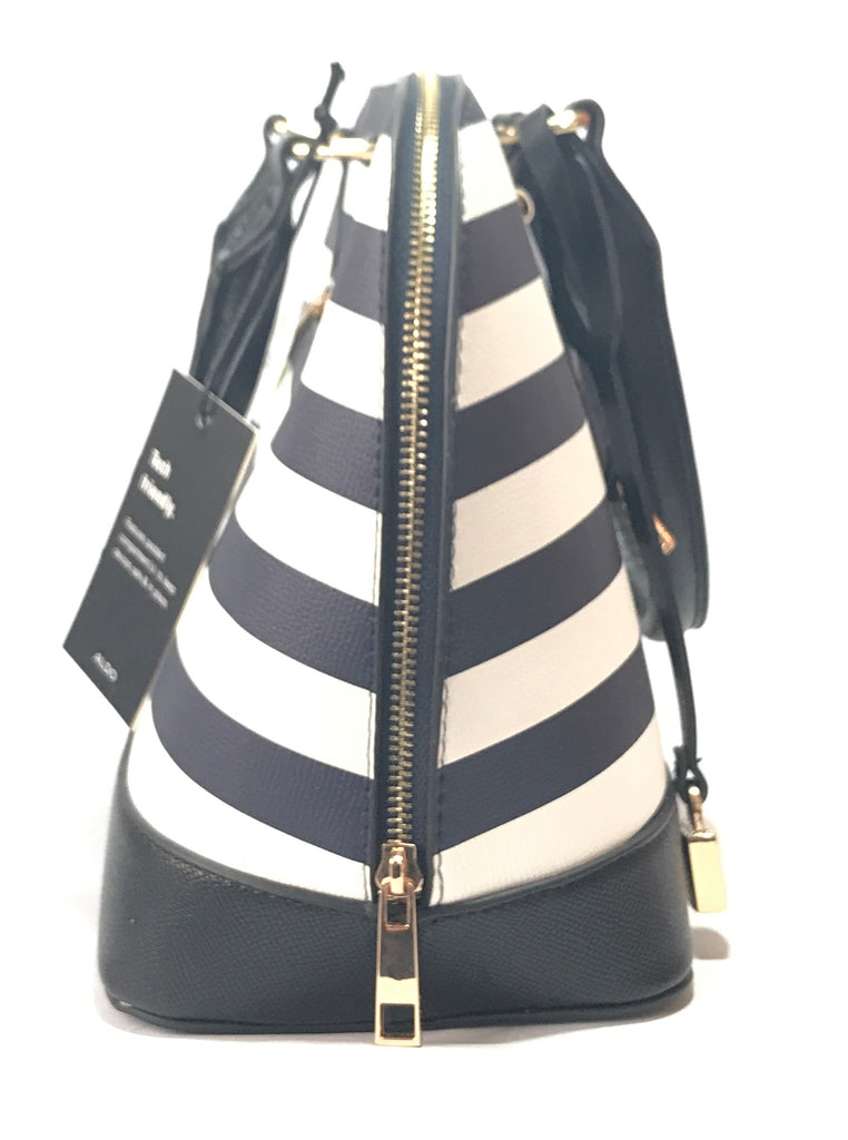 ALDO Navy, Black & White Striped 'ADERACCIA' Tote | Brand New |