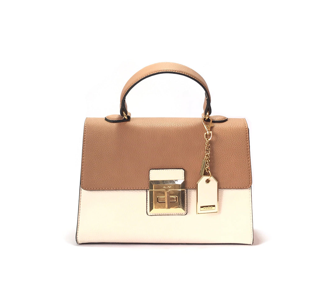 ALDO Brown & White Tote | Gently Used |