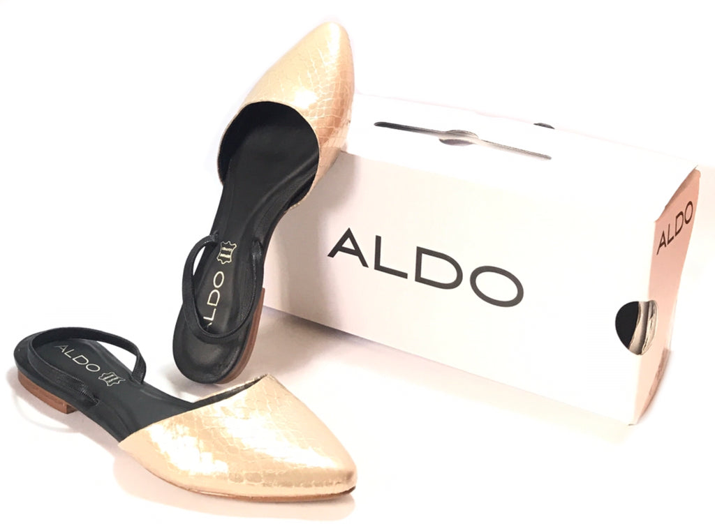 ALDO Gold & Black Snakeskin Mules | Brand New | - Secret Stash