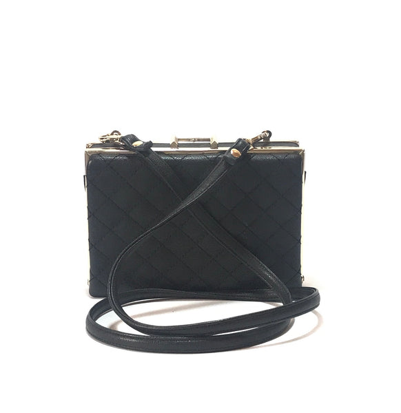 ALDO Black Quilted Box Bag | Gently Used |