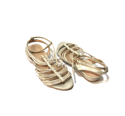 ALDO Silver 'Mazie' Small Wedge Sandals | Gently Used |