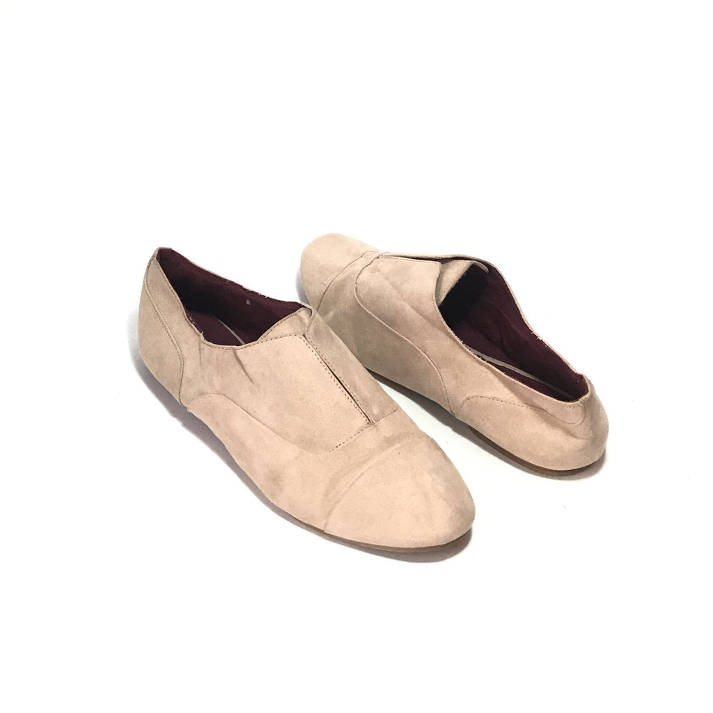 Aldo Blush Pink Suede Slip On Shoes | Pre Loved |