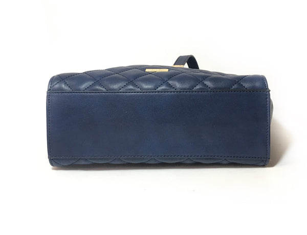 ALDO Quilted Navy Blue Shoulder Bag | Gently Used |