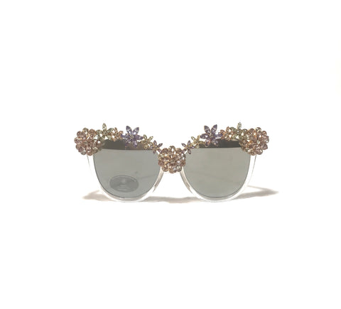 ALDO Silver Flower Mirrored Sunglasses | Brand New |