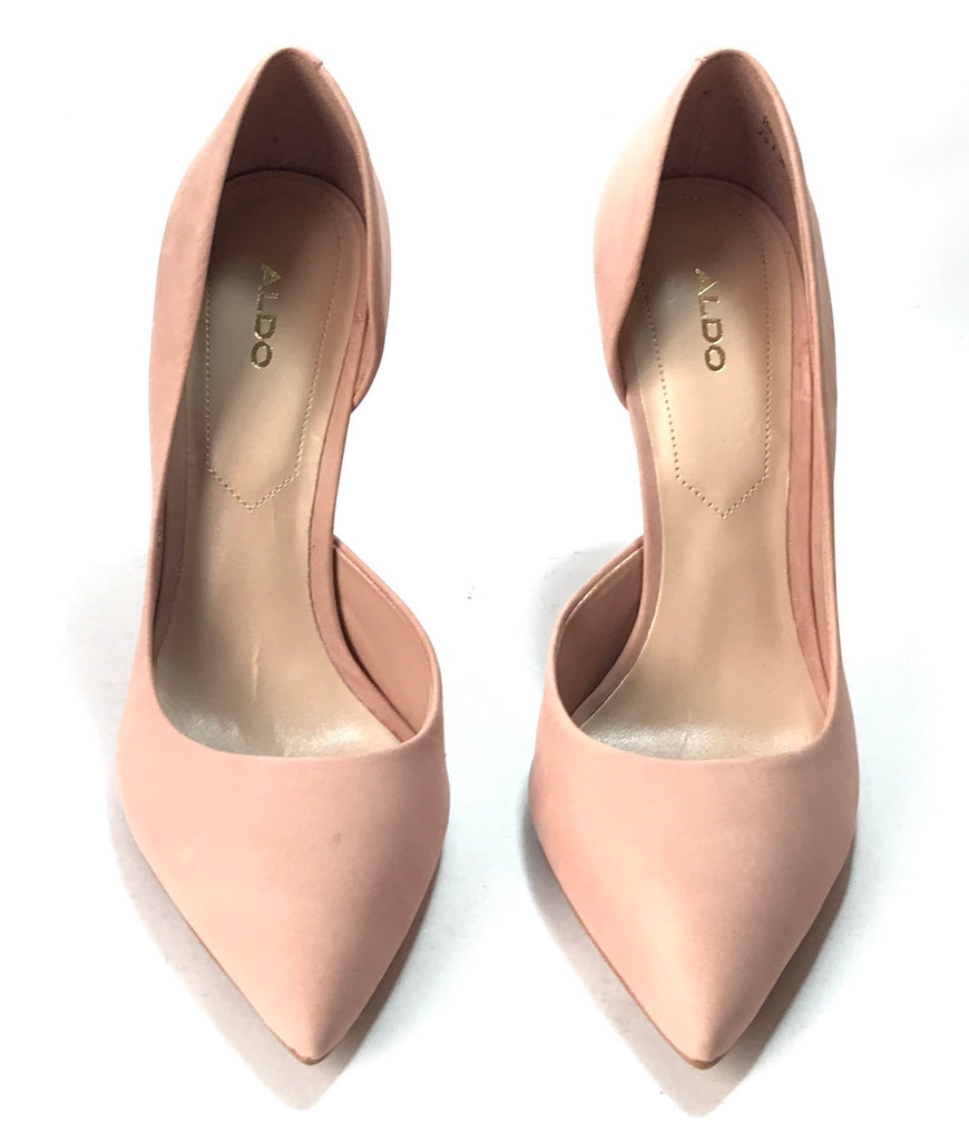 ALDO MCCARR Nude Pink Suede Heels | Brand New | - Secret Stash