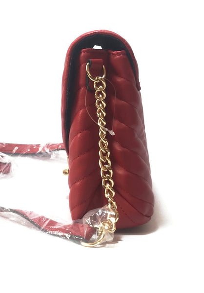 ALDO Red Quilted Crossbody Bag | Like New |