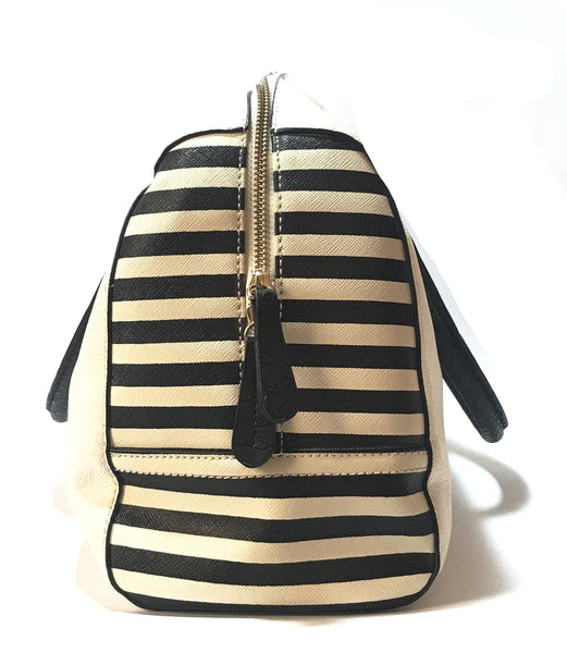 Aldo White & Striped Tote | Gently Used |