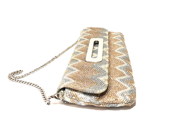 ALDO Gold & Silver Metallic Mesh Clutch | Gently Used |