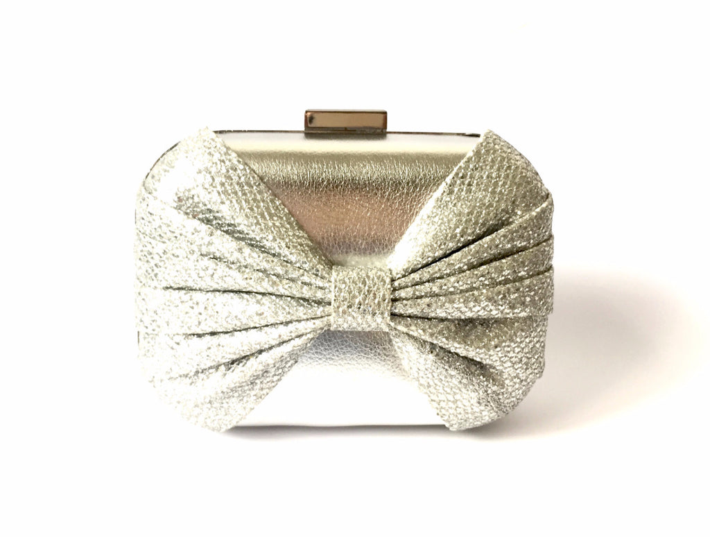 ALDO Silver Bow Clutch | Gently Used | - Secret Stash