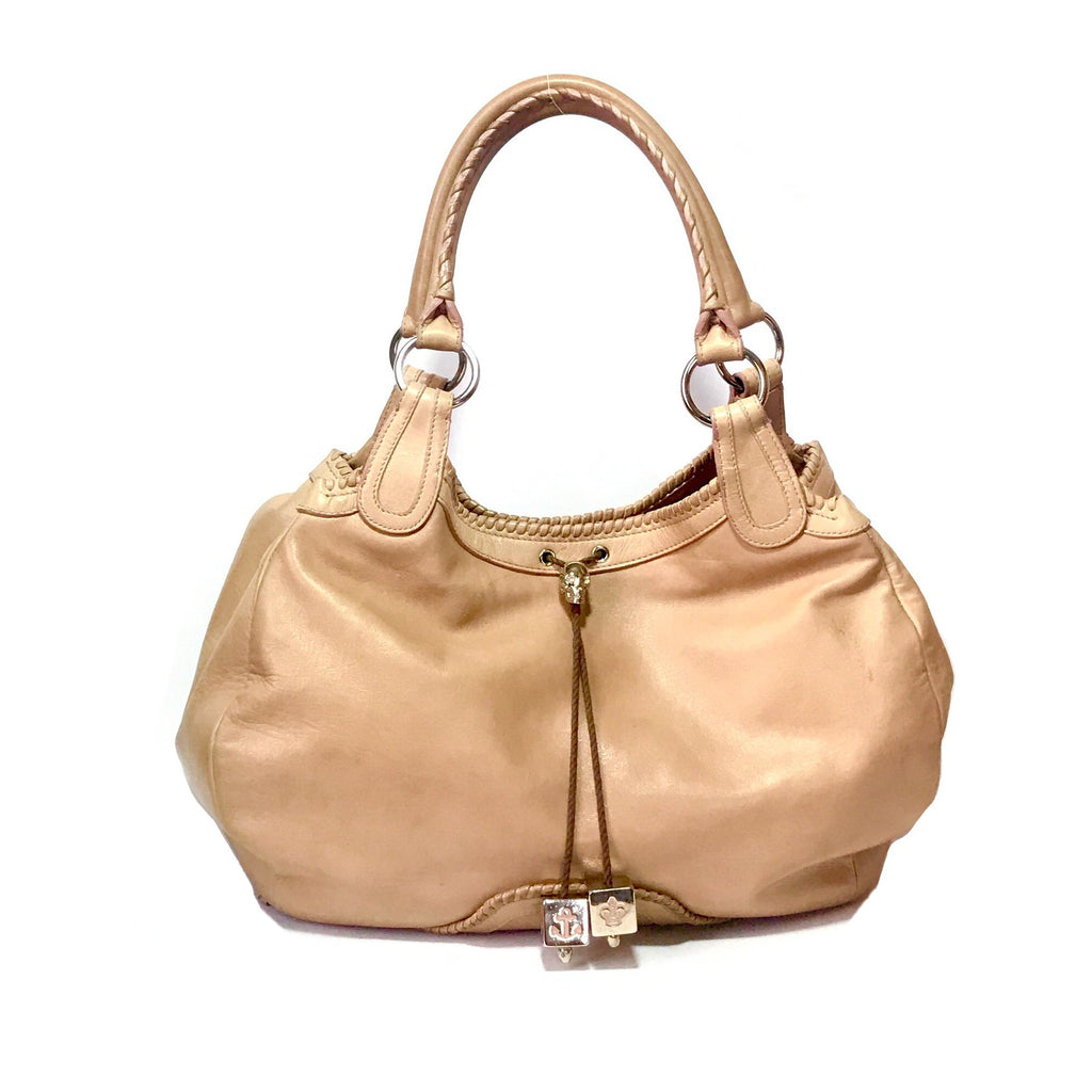 Alexander McQueen Tan Leather Shoulder Bag | Pre Loved | - Secret Stash