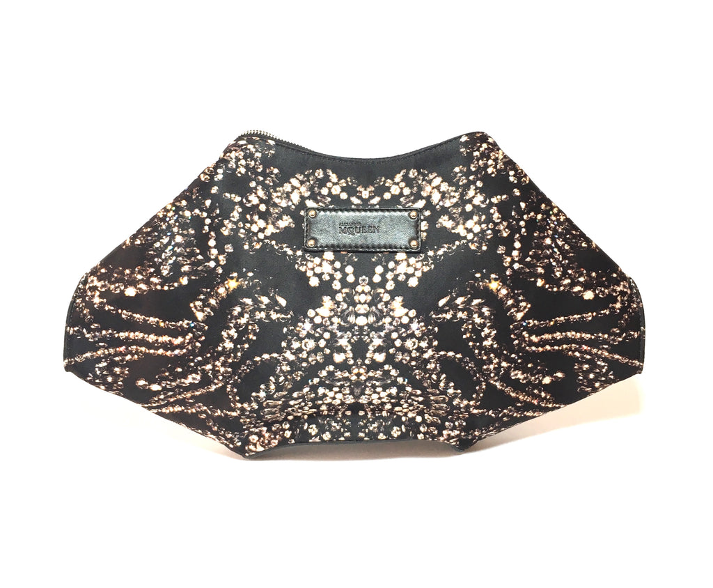 Alexander McQueen Printed Silk De Manta Clutch | Gently Used |