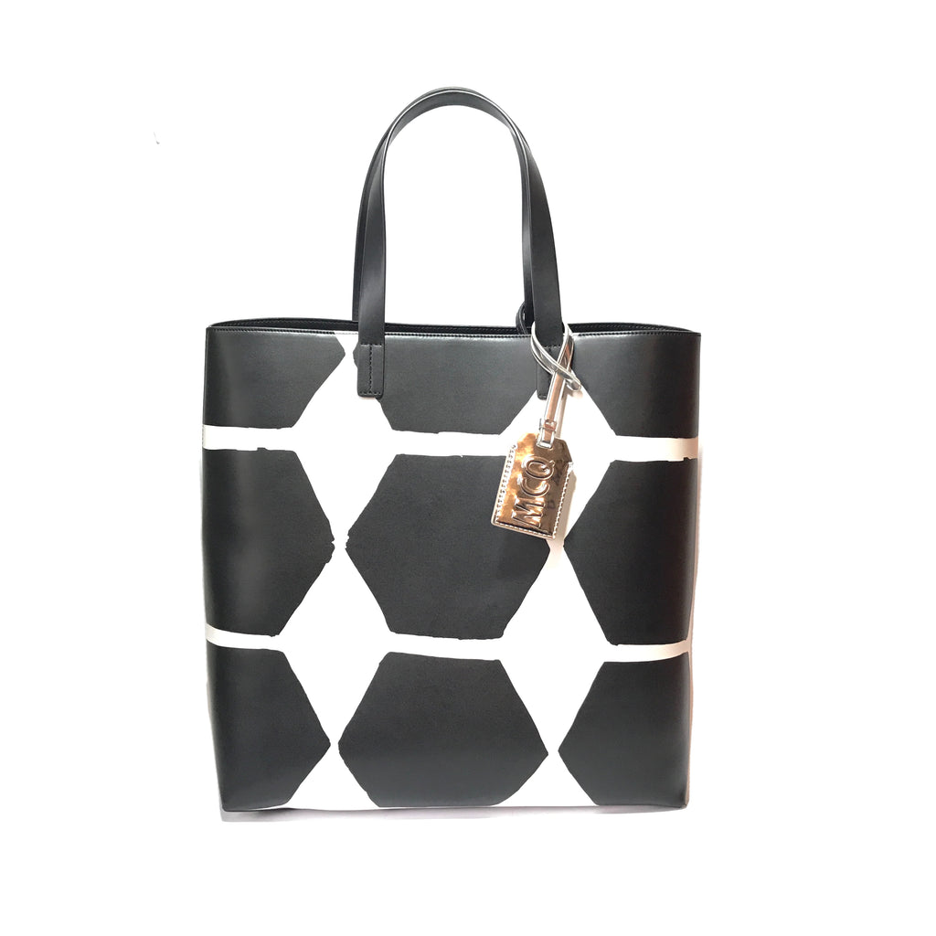 McQ Alexander McQueen Hexagon Print Shopper Tote | Like New |
