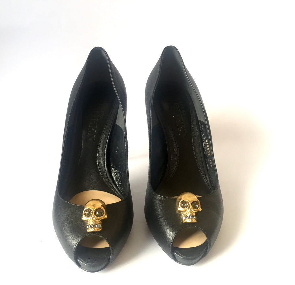 Alexander McQueen Skull Peep Toe Pumps | Gently Used | - Secret Stash