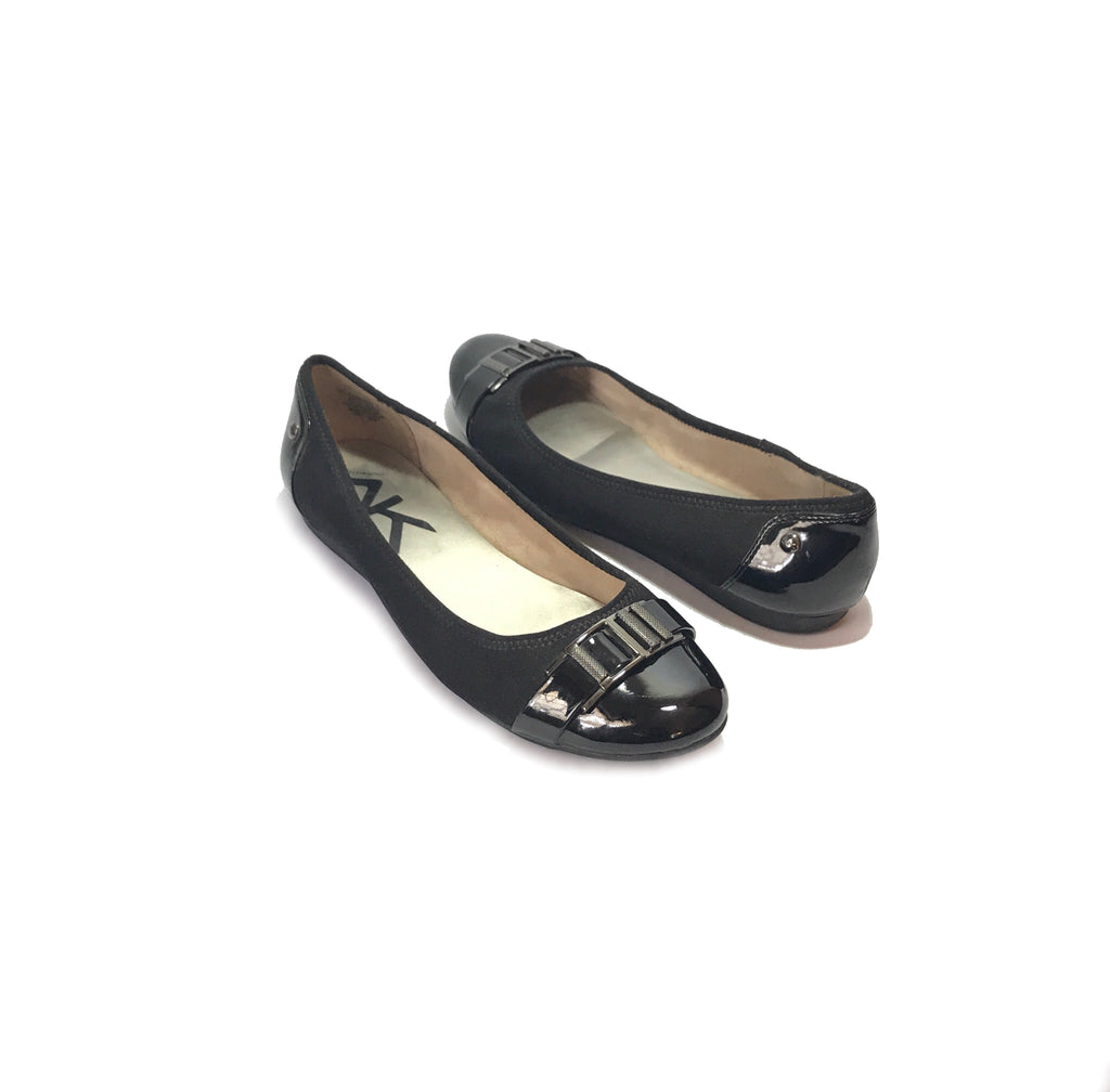 Anne Klein Black Patent 'Adette' Ballet Flats | Gently Used |