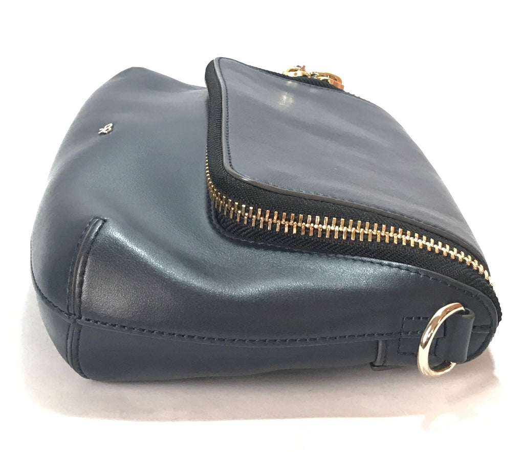 Anya Hindmarch Navy 'Vere' Leather Satchel | Gently Used | - Secret Stash