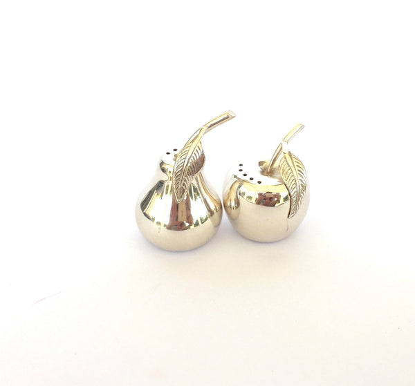 Apple and Pear Cruet Set - Silver Plated *NEW* - Secret Stash