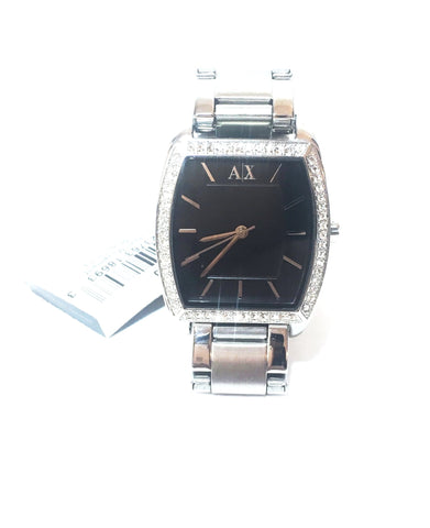 Armani Exchange AX4110 Silver Stainless Steel Rhinestone Watch | Like New |