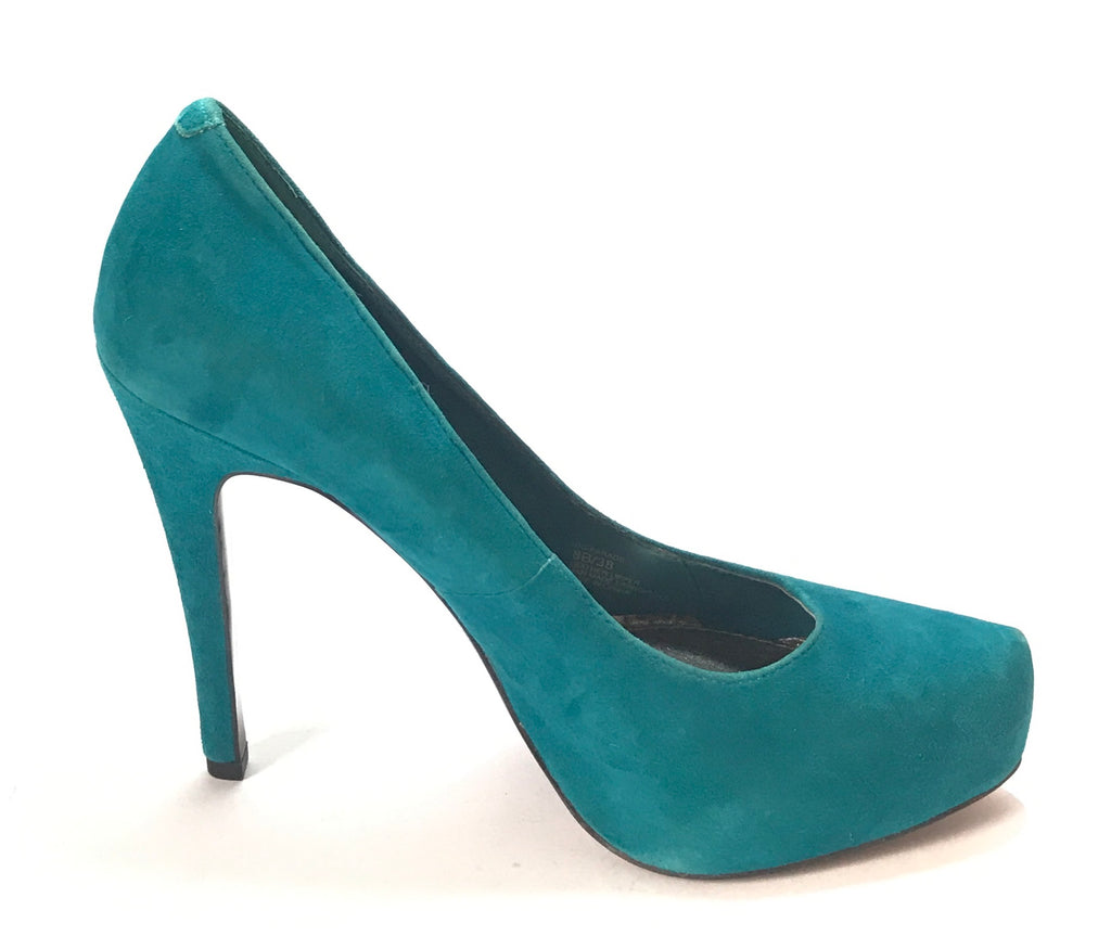 BCBGeneration Sea Green Suede Pumps | Like New | - Secret Stash