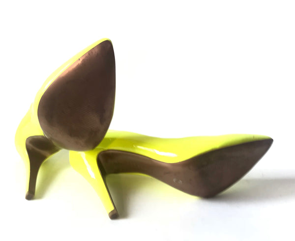 BCBGeneration Neon Yellow Cielo Heels | Gently Used |