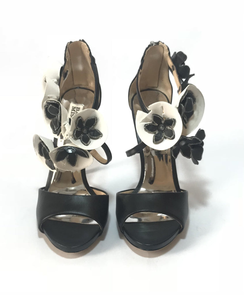 Badgley Mischka Black Floral Heels | Brand New | - Secret Stash