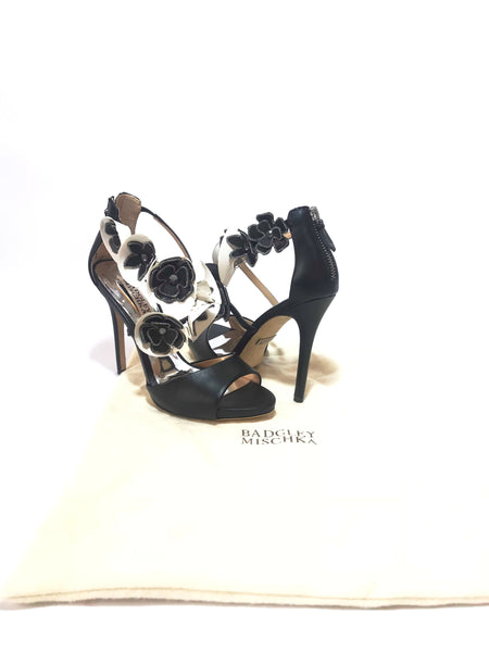 Badgley Mischka Black Floral Heels | Brand New |