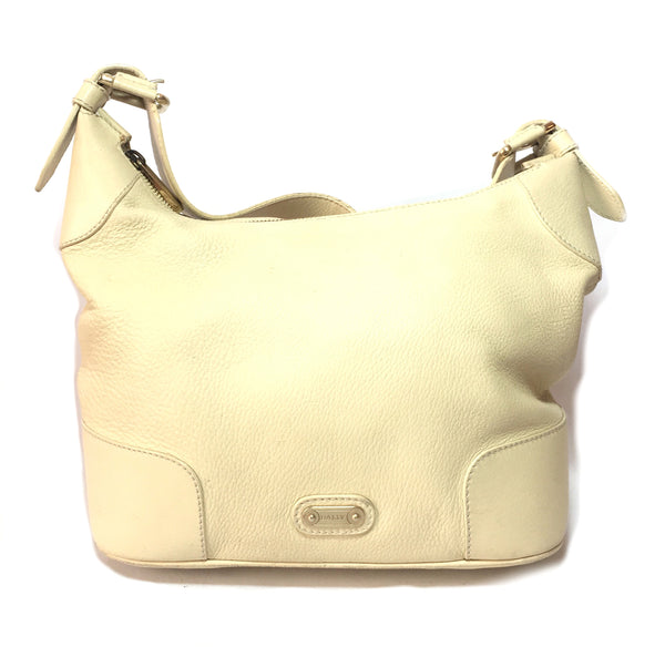 Bally Cream Textured Leather Shoulder Bag | Pre Loved |