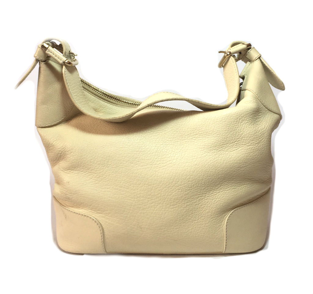 Bally Cream Textured Leather Shoulder Bag | Pre Loved | - Secret Stash